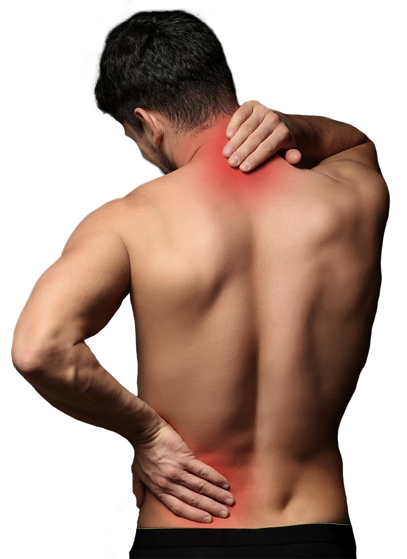 man with a back pain